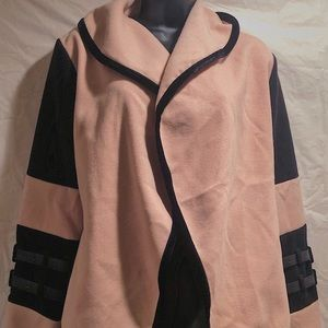 Pink and black jacket never worn SIZE Large